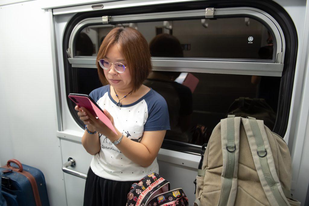 2019-09-04 太陽公主號五日遊 前往基隆的火車上