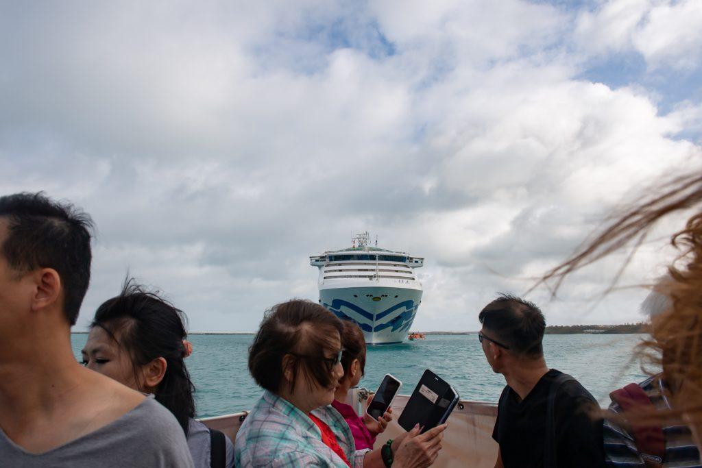 2019-09-07 太陽公主號五日遊 宮古島 靠岸的接駁小