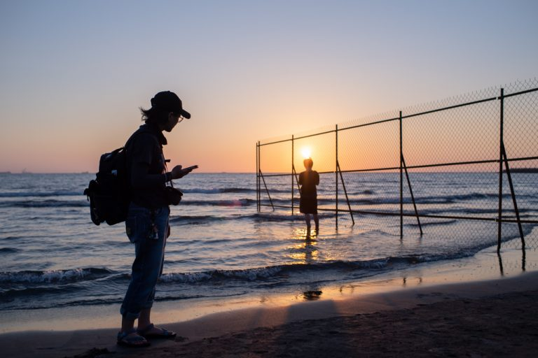 2020-10-04 台南漁光島的夕陽